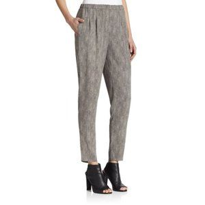Eileen Fisher Silk Chainette-Print Slouchy Pants S